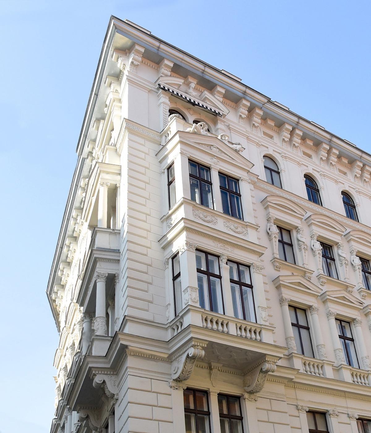 Detailansicht Ingeborg Bachmann Haus, Ungargasse 6